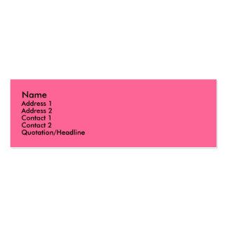 Rododendro rosado (2) tarjeta de visita