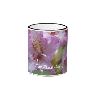Rododendro rosado tazas de café