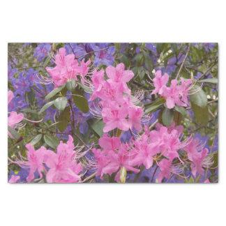 Rododendros de la primavera florales papel de seda pequeño