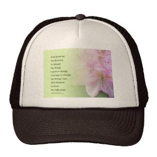 Rododendros del rosa del rezo de la serenidad gorras de camionero