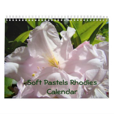 Rododendros en colores pastel suaves del calendari