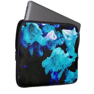 Rododendros en flores azules, florales, azules mangas computadora