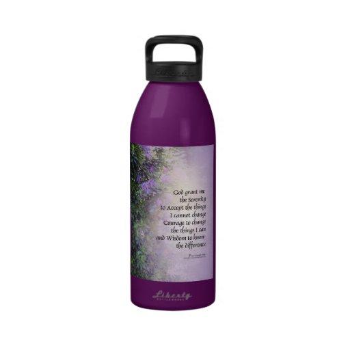 Rododendros y cala del rezo de la serenidad botellas de beber