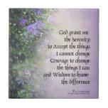Rododendros y cala del rezo de la serenidad tejas  cerámicas