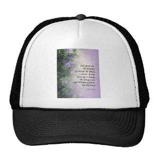 Rododendros y cala del rezo de la serenidad gorras de camionero