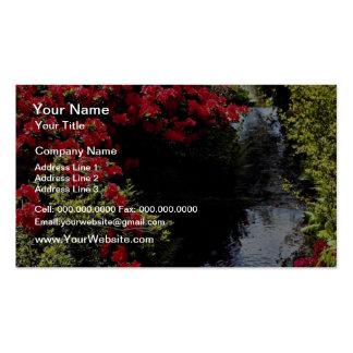 Rododendros y flores de la corriente tarjeta personal