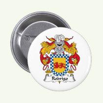 Rodrigo Family Crest Button