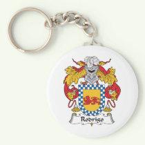 Rodrigo Family Crest Keychain