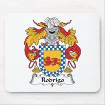 Rodrigo Family Crest Mousepad