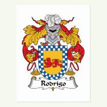 Rodrigo Family Crest Postcard