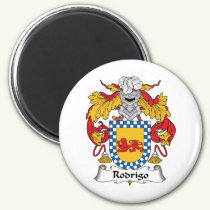 Rodrigo Family Crest Magnet