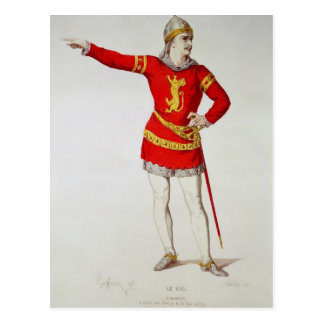 Rodrigo, from Corneille's 'Le Cid' Postcard