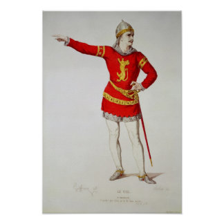 Rodrigo, from Corneille's 'Le Cid' Poster