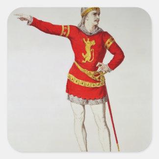 Rodrigo, from Corneille's 'Le Cid' Square Sticker