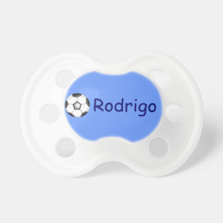 Rodrigo's pacifier / soccer ball BooginHead pacifier