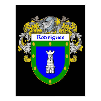 Rodrigues Coat of Arms/Family Crest Postcard