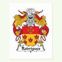 Rodrigues Family Crest Postcard