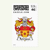 Rodrigues Family Crest Stamps