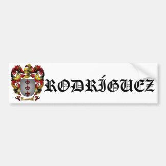 Rodríguez Coat of Arms Bumper Sticker