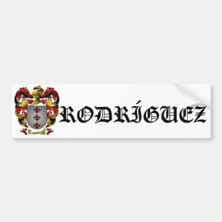 Rodríguez Coat of Arms Bumper Sticker Car Bumper Sticker