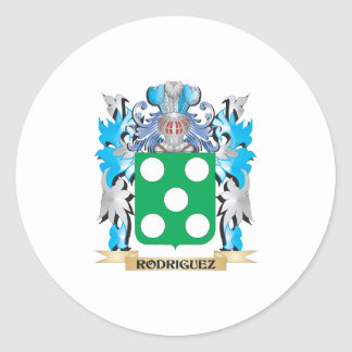 Rodriguez Coat of Arms - Family Crest Classic Round Sticker