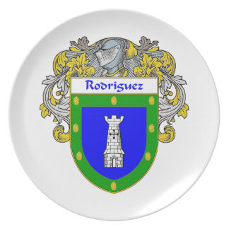 Rodriguez Coat of Arms/Family Crest Plate