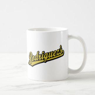 Rodriguez en oro taza básica blanca