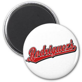 Rodriguez en rojo imán redondo 5 cm