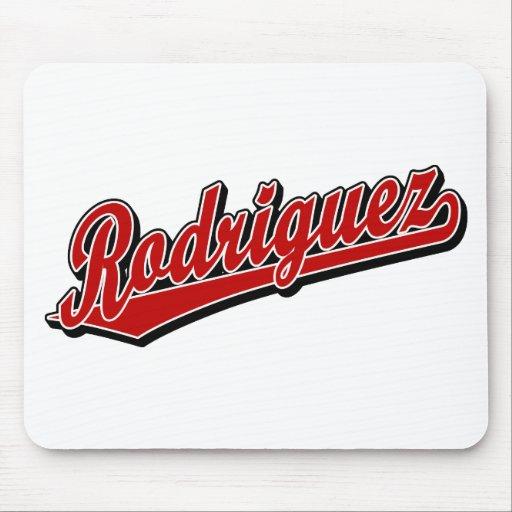 Rodriguez en rojo tapetes de ratones