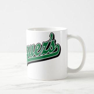 Rodriguez en verde taza básica blanca