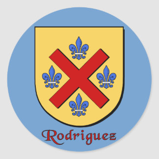 Rodriguez Family Shield Stickers