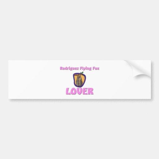 Rodriguez Flying Fox Lover Car Bumper Sticker