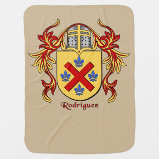 Rodriguez Heraldic Shield and Mantling Baby Blanket