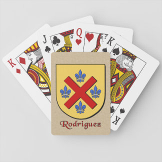 Rodriguez Heraldic Shield Playing Cards