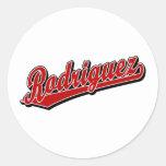 Rodriguez in Red Round Sticker