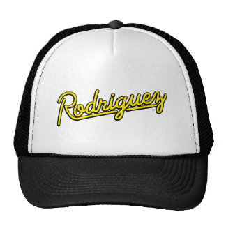 Rodriguez in yellow trucker hat