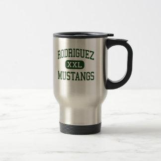 Rodriguez - mustangos - alto - Fairfield Californi Tazas De Café