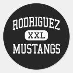 Rodriguez - Mustangs - High - Fairfield California Round Stickers