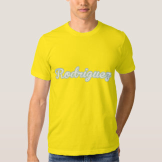 Rodriguez T-Shirt White Blue Logo