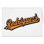 Rodriguez's in Orange Cards
