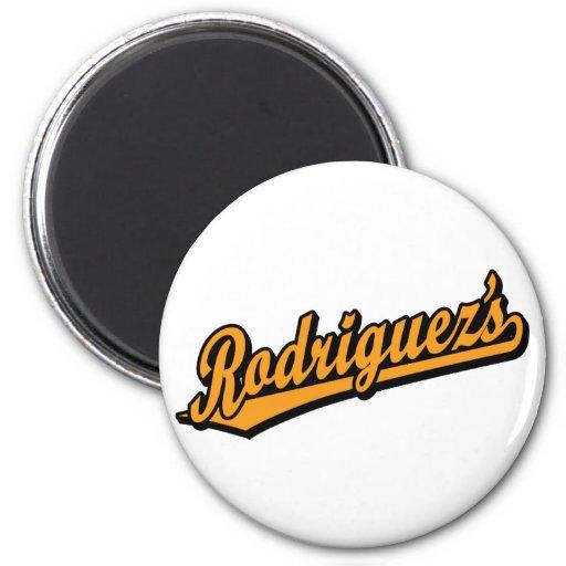 Rodriguez's in Orange Fridge Magnets