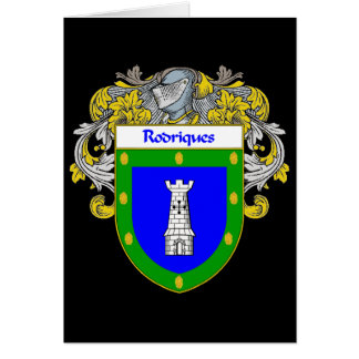 Rodriques Coat of Arms/Family Crest Card