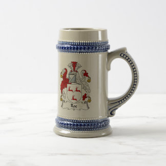Roe Coat of Arms Stein - Family Crest Mugs