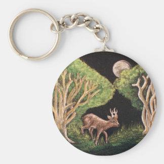 Roe Deer Classic Keycain Keychain