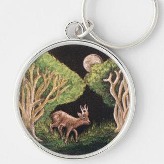 Roe Deer Premium round Keychain