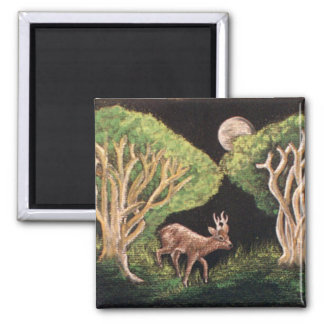 Roe Deer Square Magnet