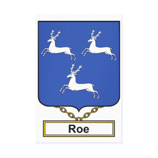 Roe Family Crest Canvas Print