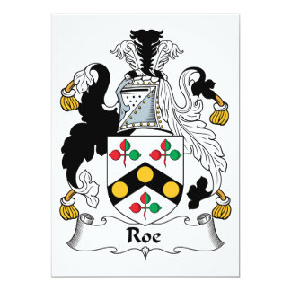 Roe Family Crest Card