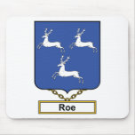 Roe Family Crest Mouse Pad