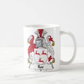 Roe Family Crest Coffee Mugs